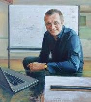 Portrait of Nigel Pavey. Oil on canvas. Portrait commission by artist Marina Kim
