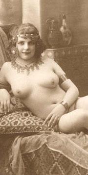 Fernande Barrey como modelo por Jean Agélou.