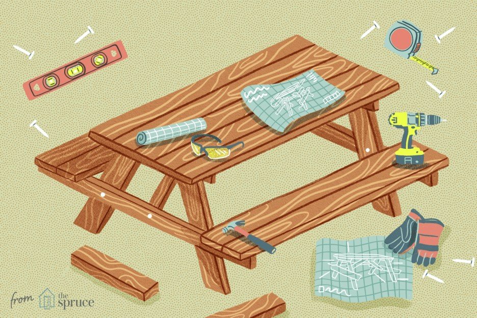 13 free picnic table plans in all shapes and sizes