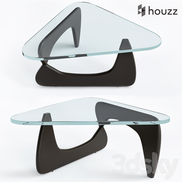 3d models table triangle glass coffee tables
