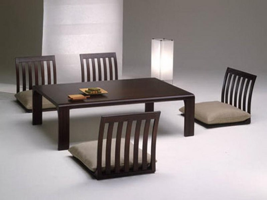 fabulous espresso polished low japanese dining table