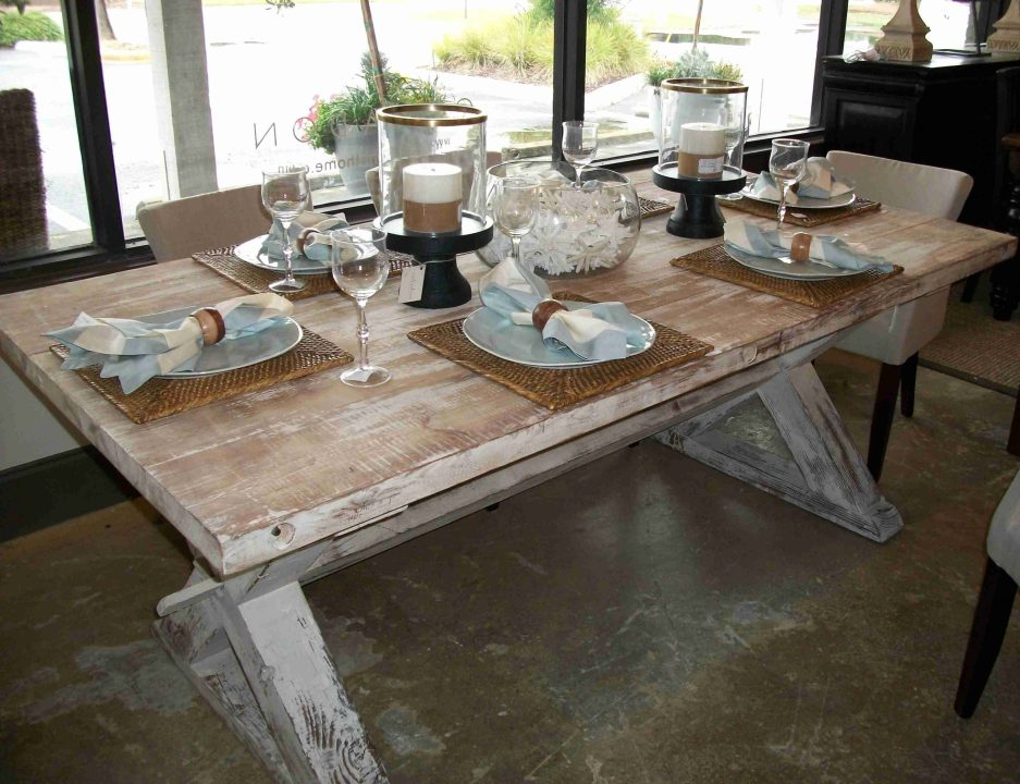furniture french style distressed country farmhouse dining