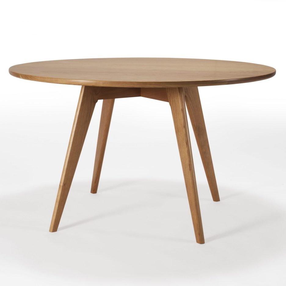 hand crafted round kitchen table mid century modern dining