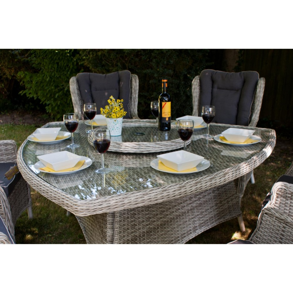 manhattan 6 seat triangular dining set