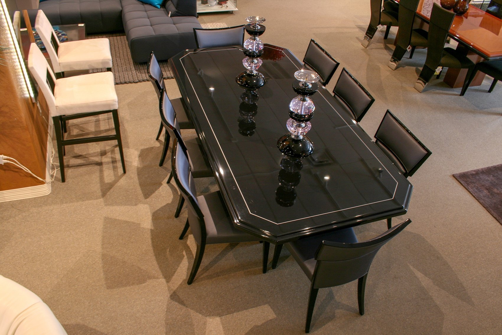 pdm dining table black lacquer