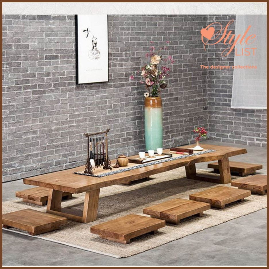 solid wood tatami dining table