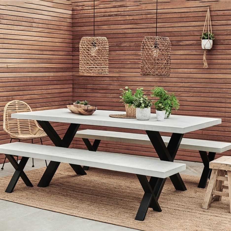 xavier concrete top indooroutdoor dining table