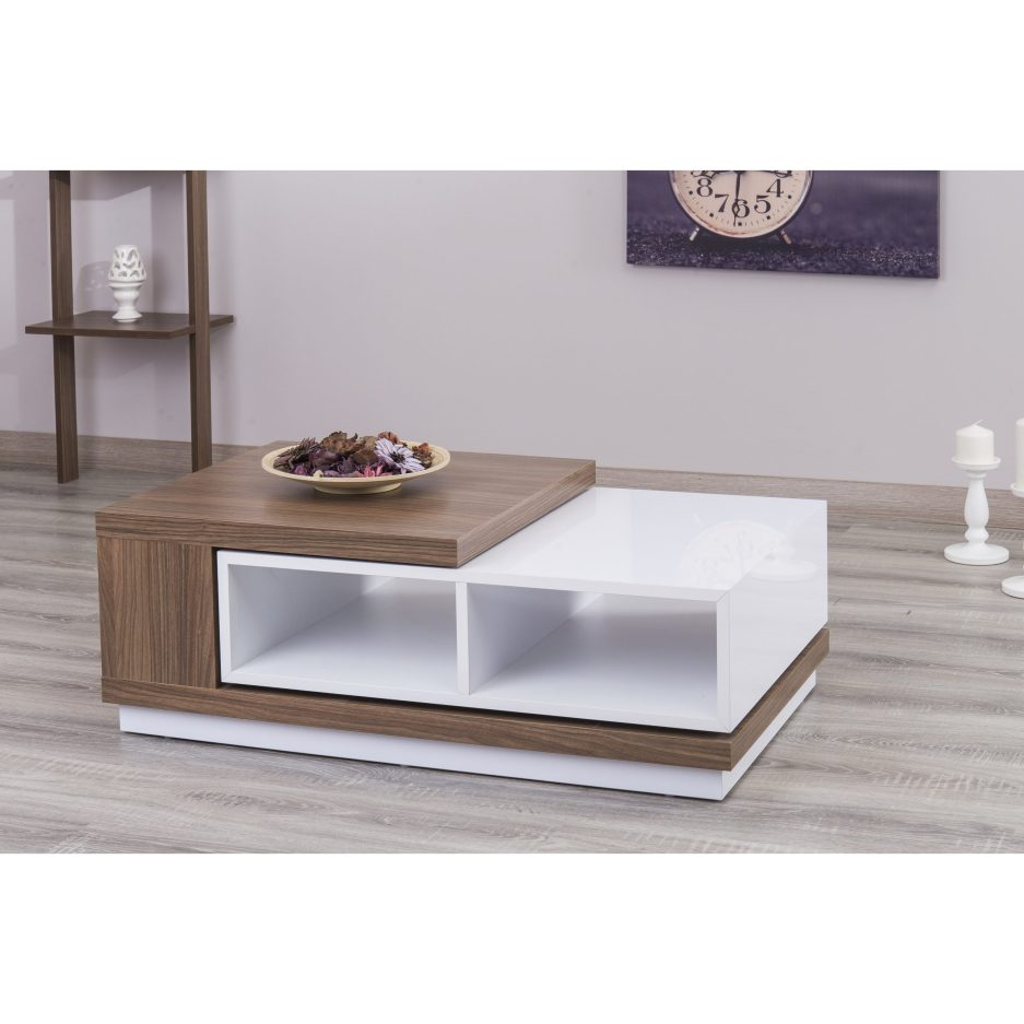 zoom s extendable white lacquer coffee table