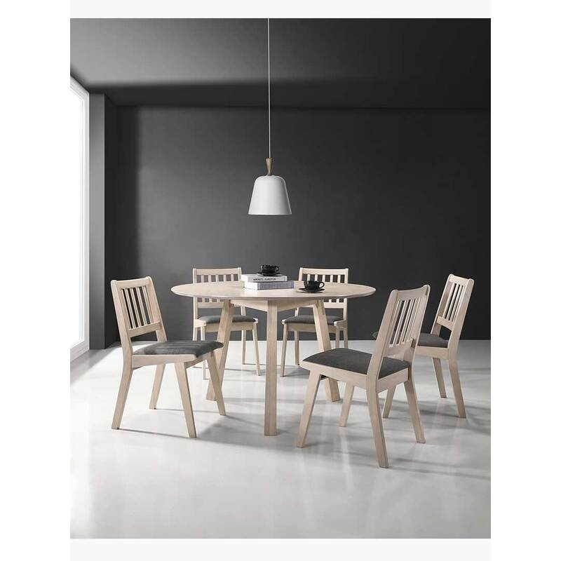 7 pieces designer dining set table chairs solid rubberwood