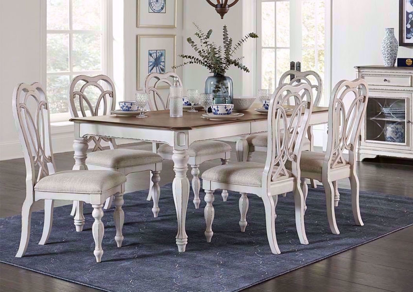 giovanni dining table set white home furniture plus