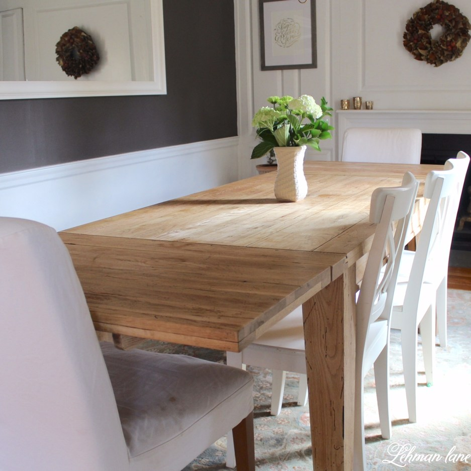 how to refinish a table diy farmhouse table for free