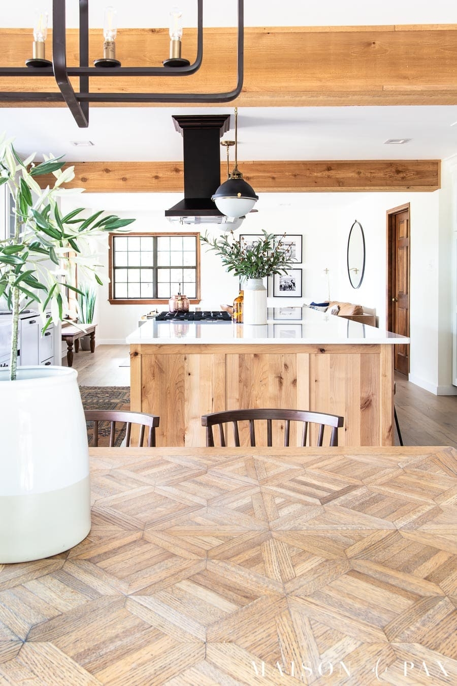 how to refinish a table with a natural wood look maison de pax