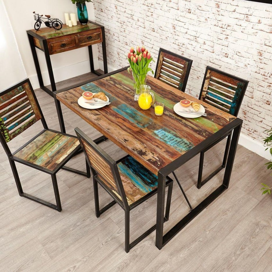 industrial chic small dining table