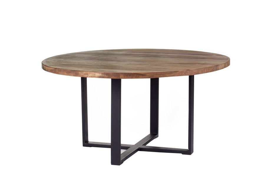 industrial modern round dining table rustic dining table steel base