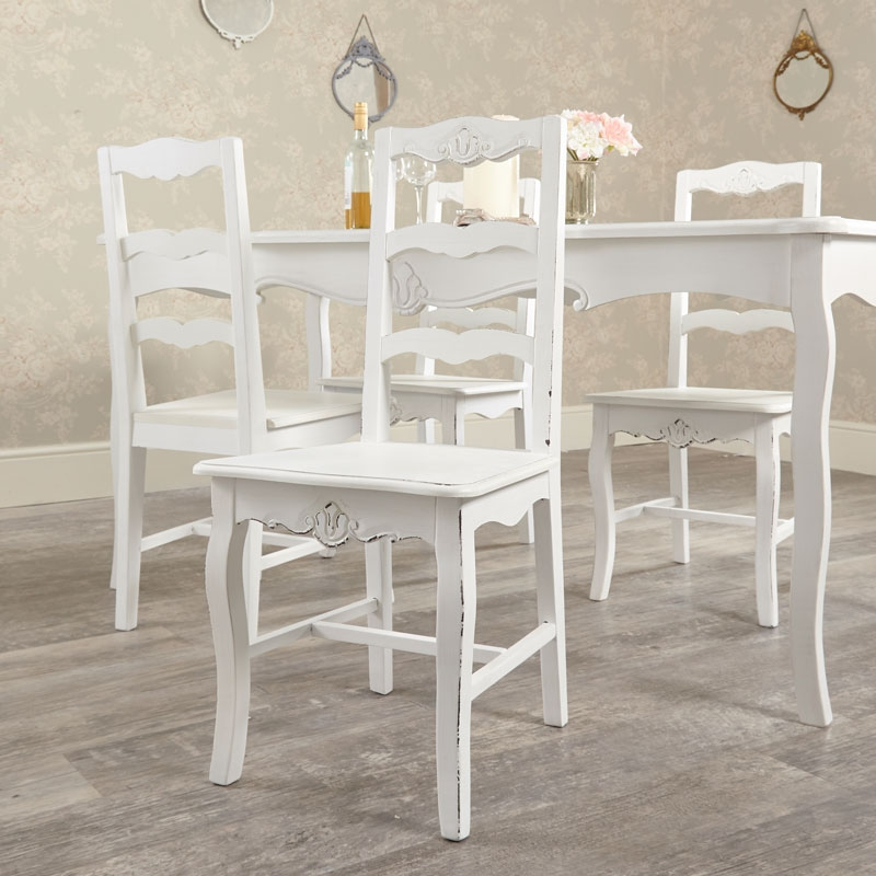 large white dining table with 4 chairs jolie range