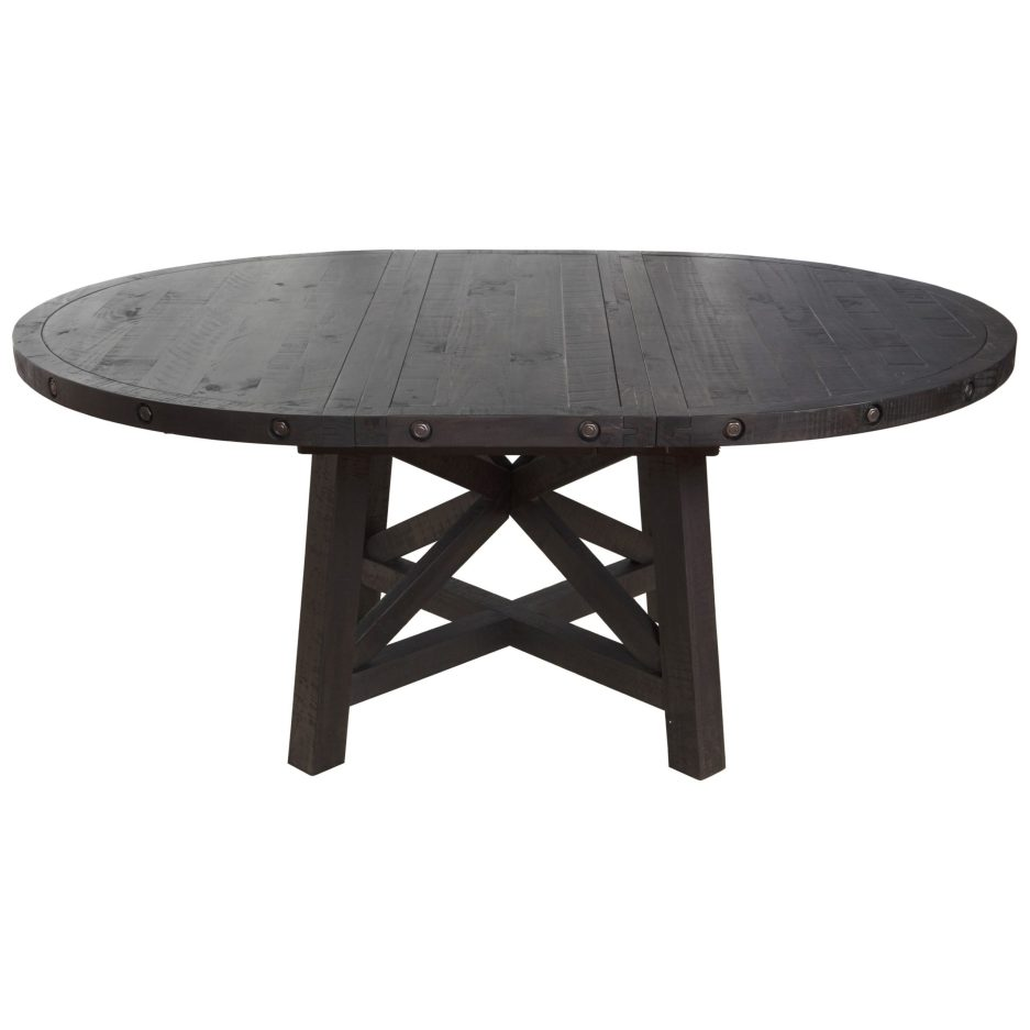modus international yosemite rustic solid wood round table