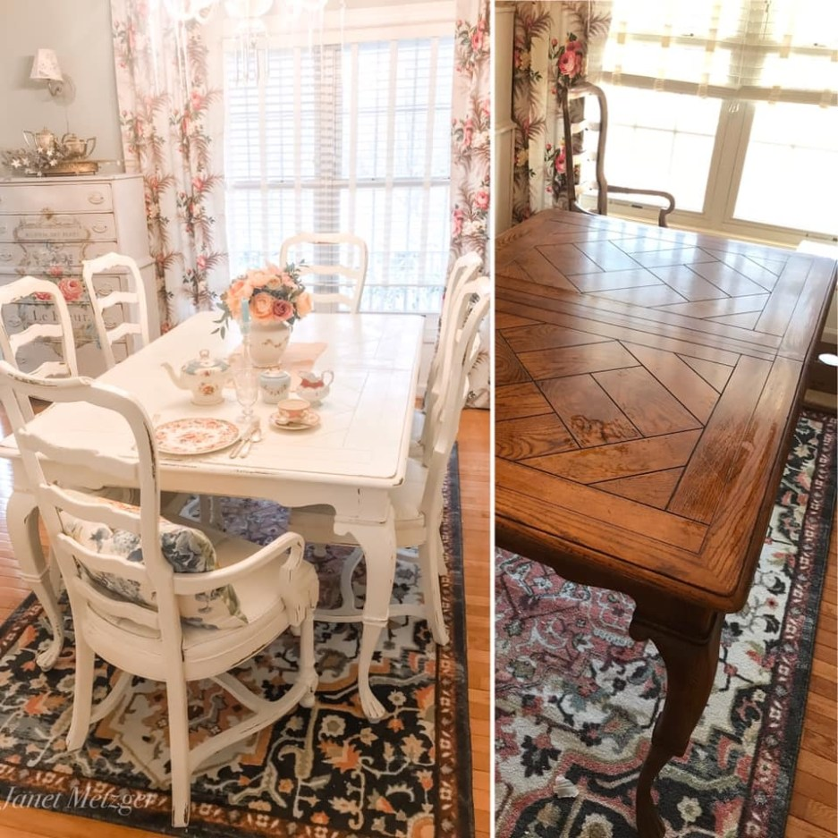 painting a dining room set with chalk paint the purple