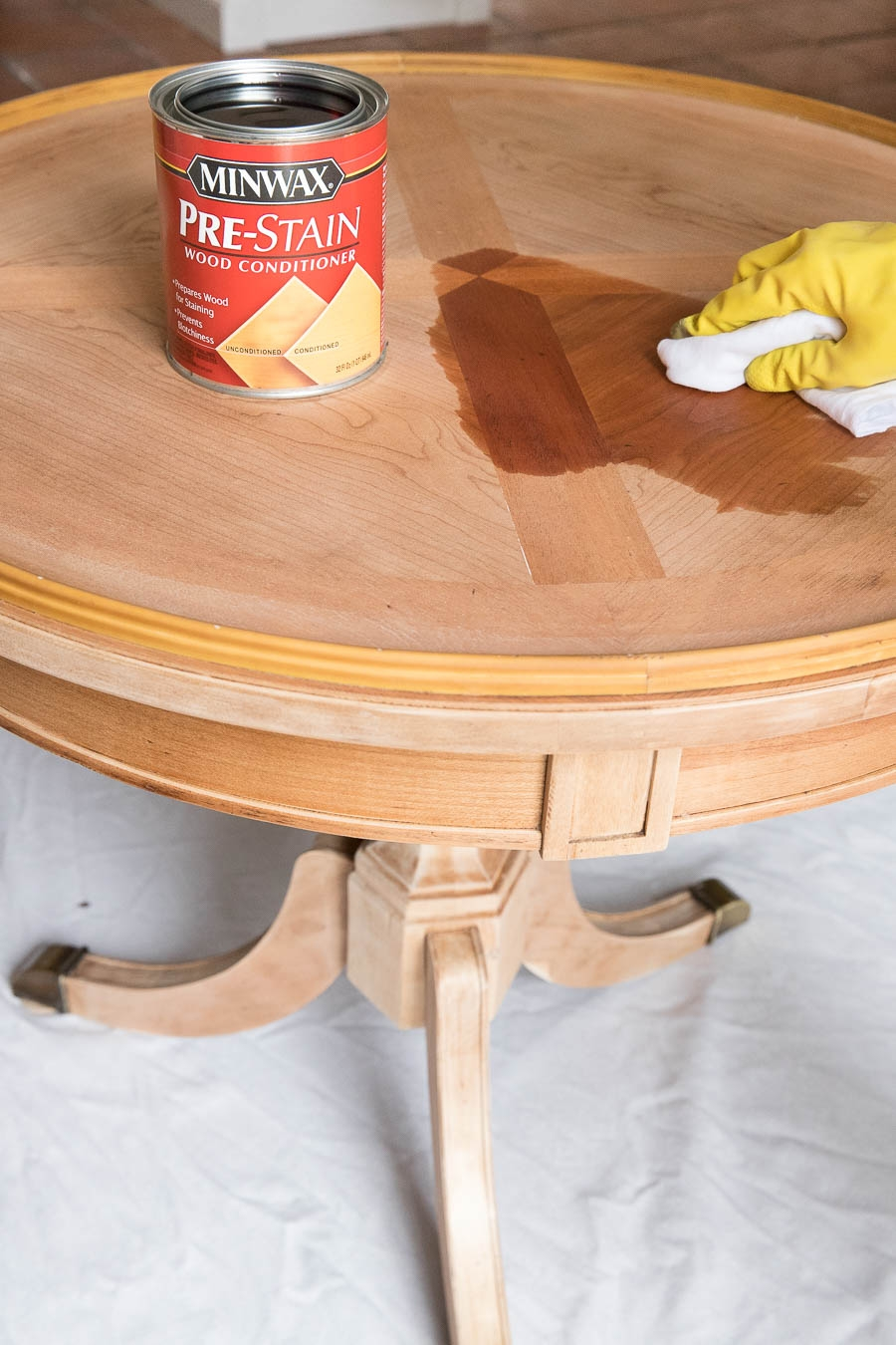 refinishing a table how i brought my beat up end table back