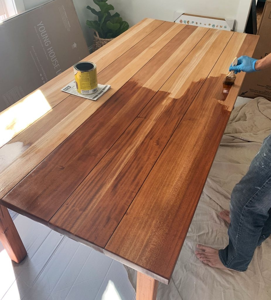 the miracle that is sanding refinishing a table young