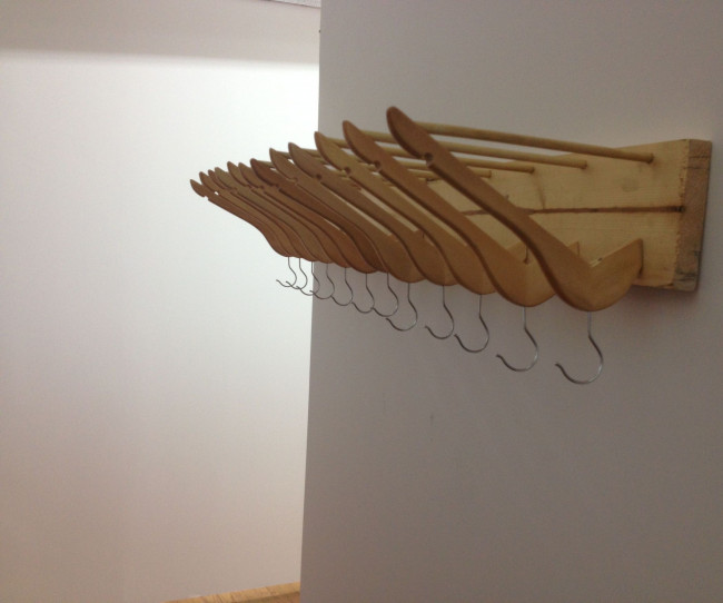 IKEA Organizer with a Clothes Hat Hanger ideas