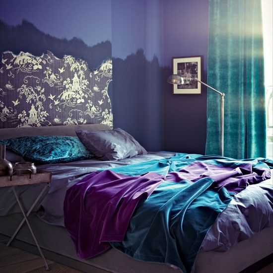 teal rooms ideas purple accents