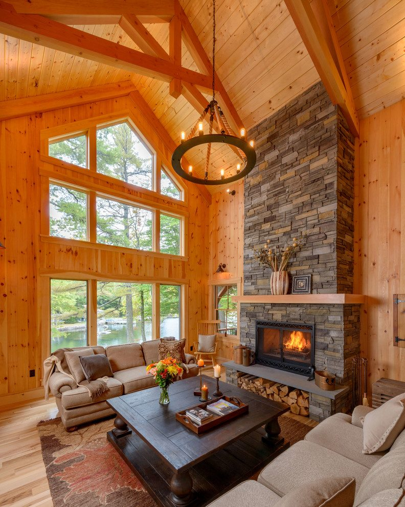 tuscany living room ideas Vaulted Ceiling
