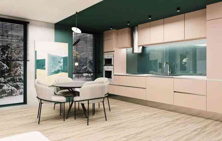 green kitchen ideas for dining table design