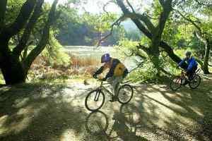 Riders at Lake Lagunitas - courtesy of MarinIJ.com