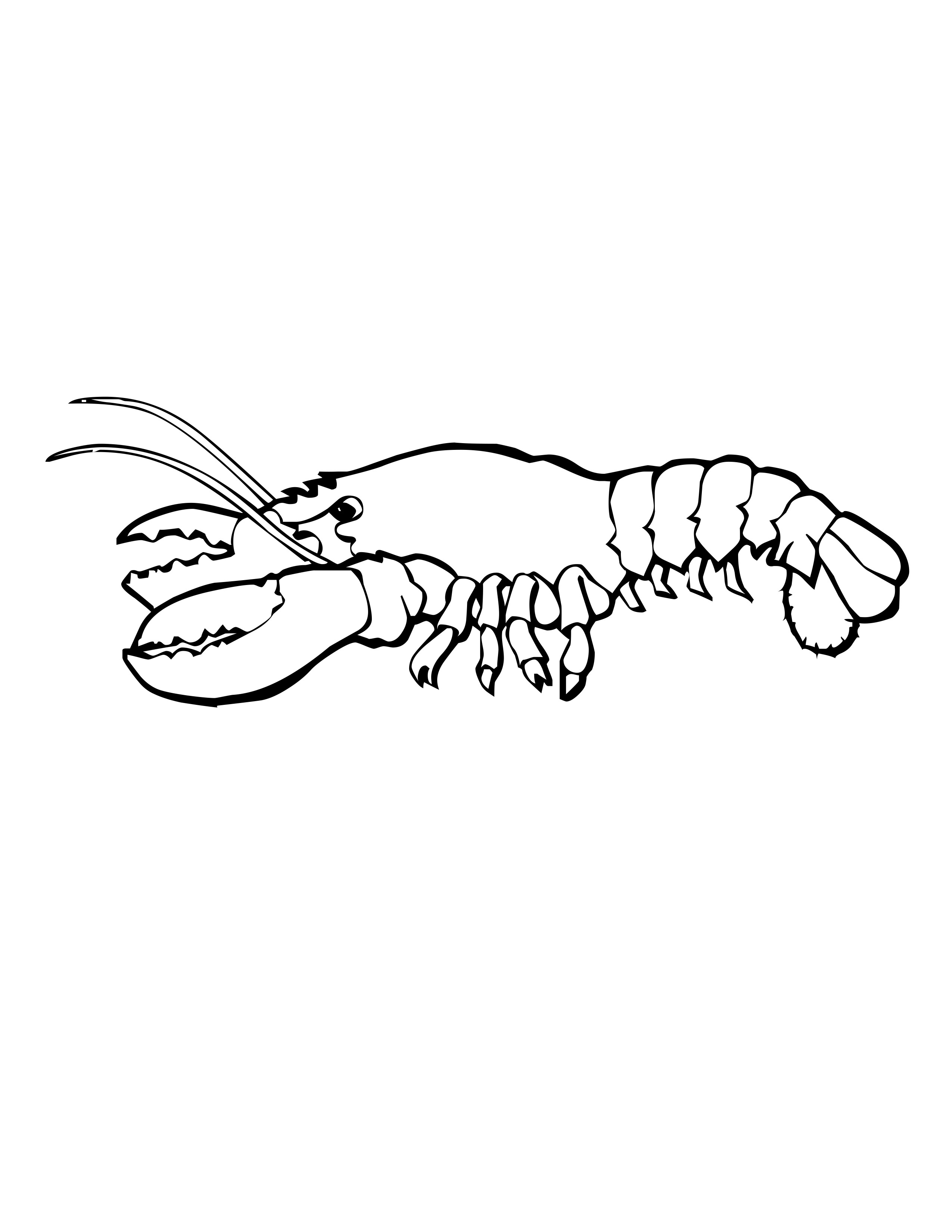 Lobster Printable Coloring Pages
