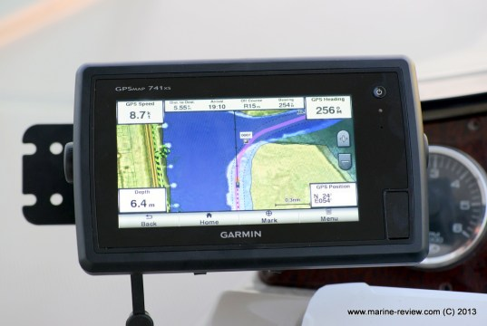 Garmin GPSMAP 741xs on boat