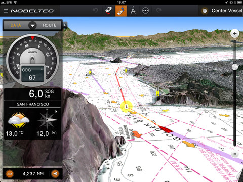 Nobeltec TimeZero for iPad released with PhotoFusion support