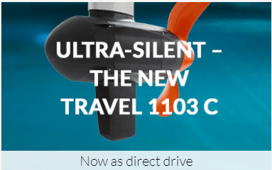 The Torqeedo Travel 1103 C is the first direct drive outboard with a lot less noise than previous models