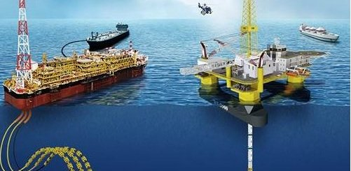 Offshore platforms and cargo tanker ships