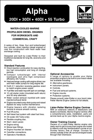 Lister and Lister Petter Diesel Engine Manuals  MARINE