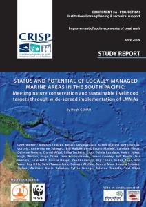 Status and potential of locally-managed marine areas in the South Pacific: meeting nature conservation and sustainable livelihood targets through wide-spread implementation of LMMAs