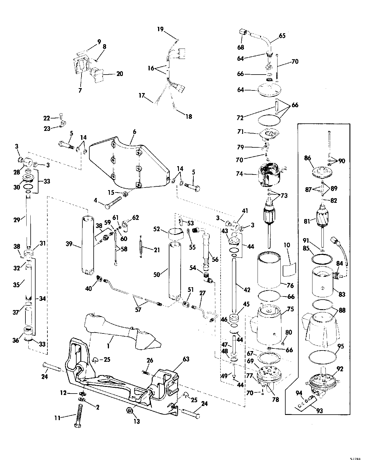 90 Hp Evinrude Water Pump Diagram