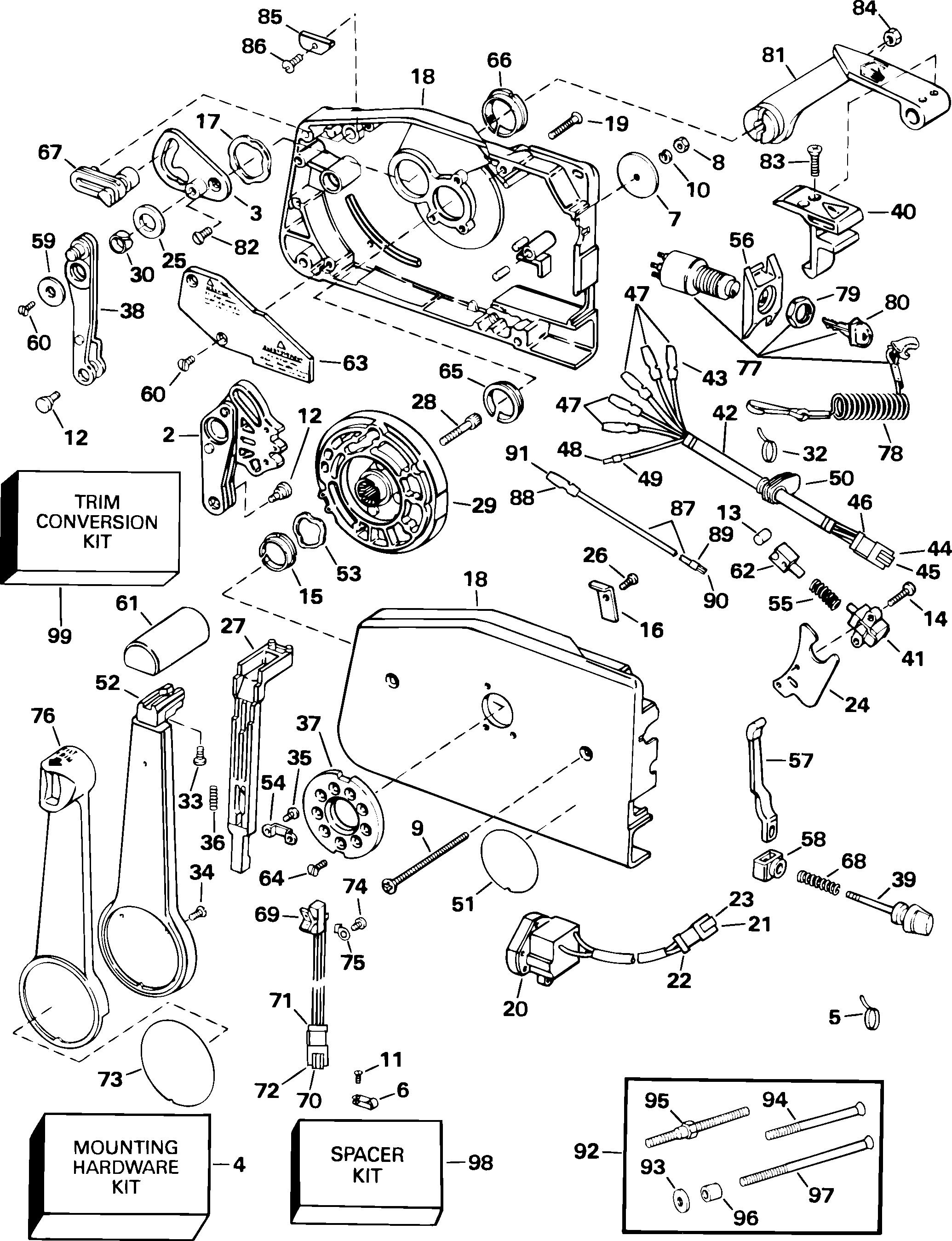 Remote control side mount key switch remote controls cables mercury remote control wiring diagram mercury control box diagram