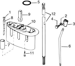 Gearcase Extension Kit  99,15 Hp (2stroke