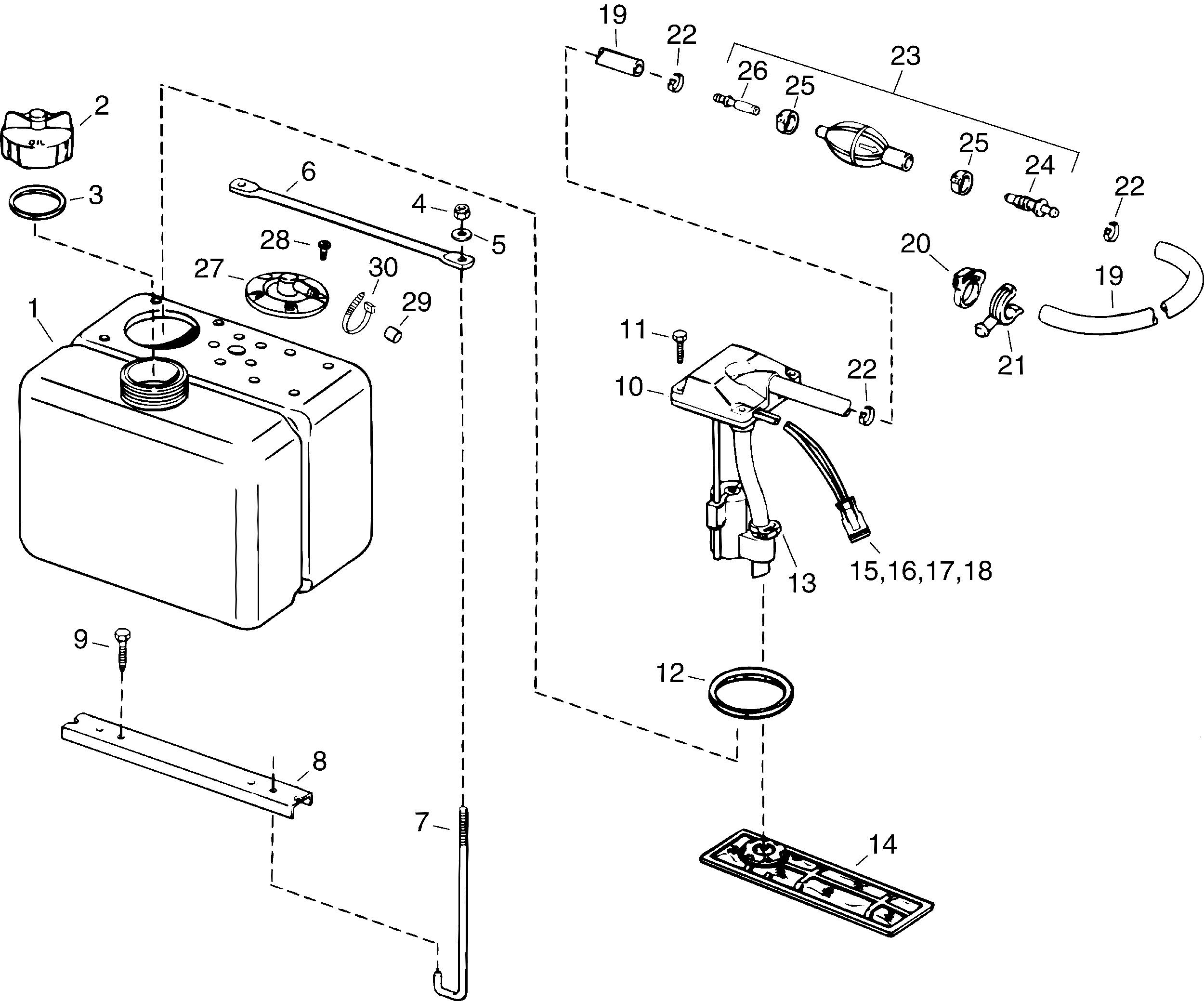 Mercury Fuel Filter Cross Reference