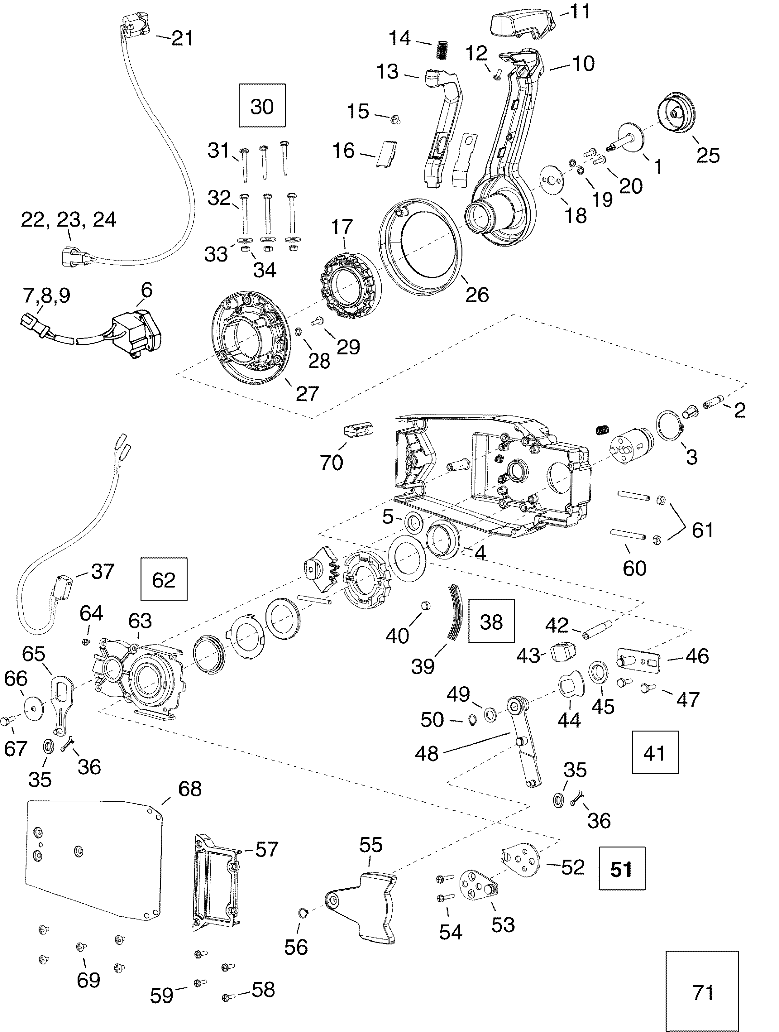 Quicksilver Throttle Control Parts