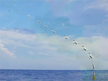 File Submarine Launches Aircraft: Photo credit US NRL