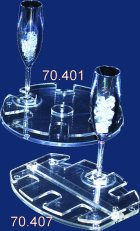 Round tray flute holder