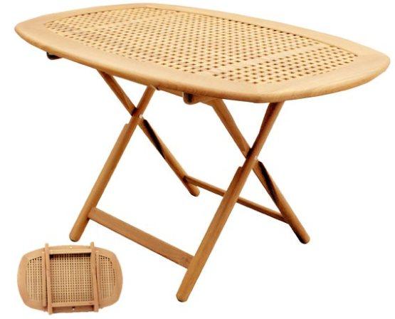 Tavolo in massello di teak ovale