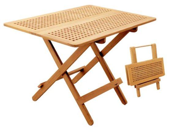Folding teak table