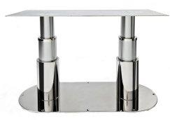 Doppia installazione con piastra ovale di supporti inox/alluminio tondi