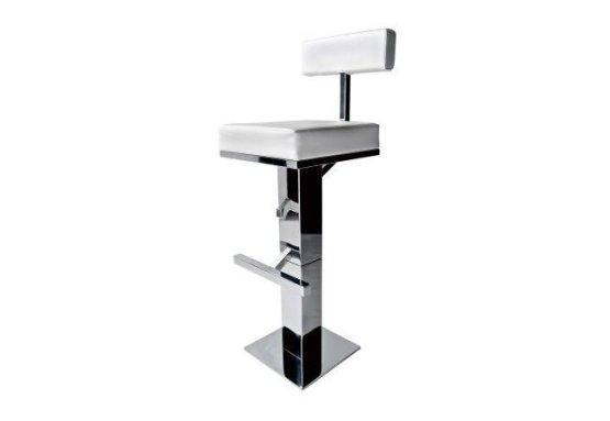 Sgabello bar quadrato in acciaio inox
