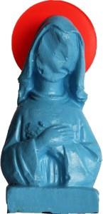 Little virgin nº12. Exaduro, acrílico y metacrilato. 12x6x4 cm. 2019