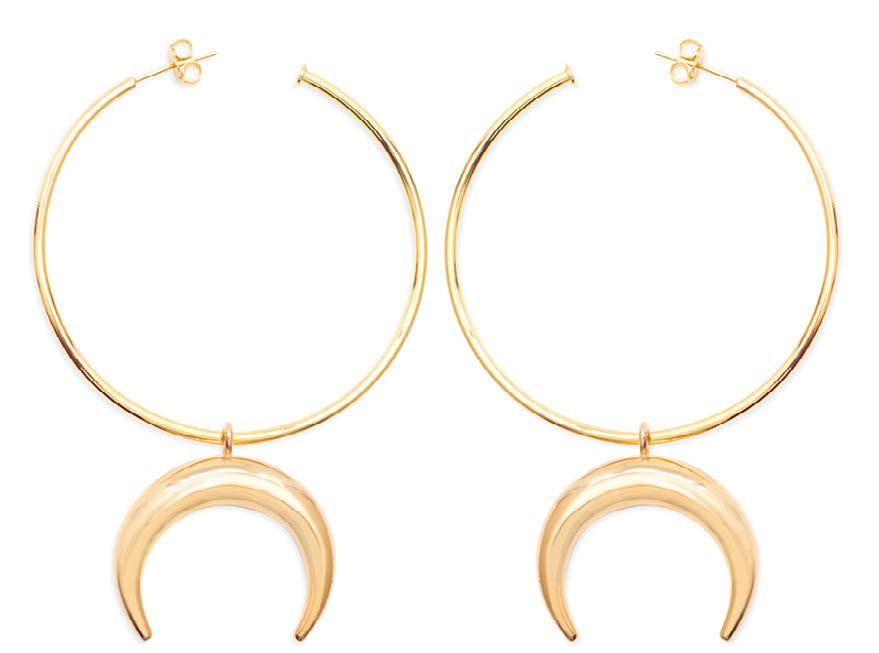 Crescent Hoops by Vayu Jewels