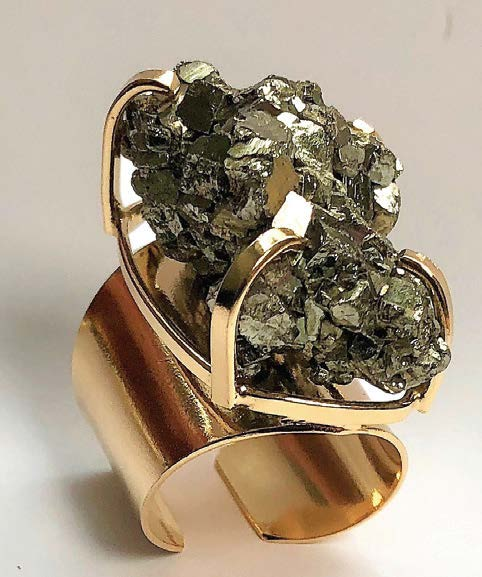 Pyrite Cuff Ring Tumbleweed Boutique