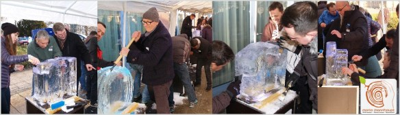 Teamevent Eisschnitzen im Winter